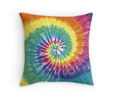 Rainbow Tie Dye Throw Pillow