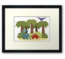 Dino trouble Framed Print