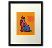 Spidey-Cat Framed Print