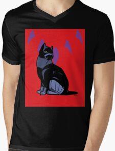Black-Kitty (panther) Mens V-Neck T-Shirt