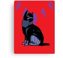 Black-Kitty (panther) Canvas Print