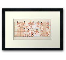 Vintage Egyptian illustration  Framed Print
