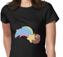 Shooting Star Sloth Womens Fitted T-Shirt