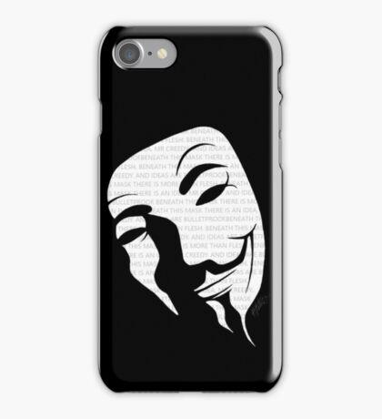 V for vendetta mask iPhone Case/Skin