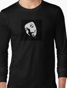 V for vendetta mask Long Sleeve T-Shirt