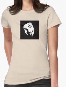 V for vendetta mask Womens Fitted T-Shirt