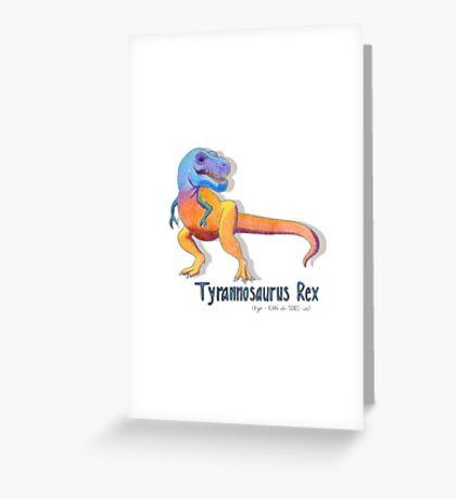 Tyrannosaurus Rex Rawrrrr Greeting Card