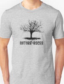 Nature Rocks Black Tree Silhouette  Unisex T-Shirt