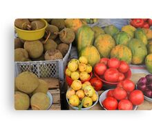 Exotic Fruits and Vegetables Metal Print