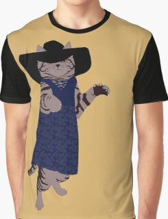 Fashion Cat - In 70's style summer dress Graphic T-Shirt