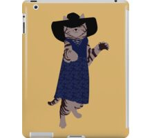 Fashion Cat - In 70's style summer dress iPad Case/Skin