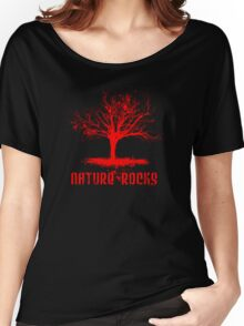 Nature Rocks Red Tree Silhouette  Women's Relaxed Fit T-Shirt