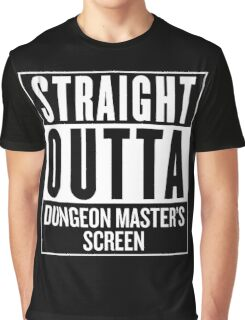 Straight Outta Dungeon Master's Screen Graphic T-Shirt