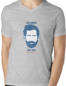 Beards are Hot Mens V-Neck T-Shirt
