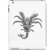 Vintage Hermit Crab Illustration Retro 1800s Black and White Marine Crabs Image iPad Case/Skin