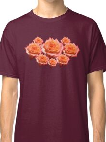 Orange Rose with Droplets Classic T-Shirt