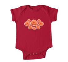 Orange Rose with Droplets One Piece - Short Sleeve