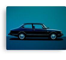 Saab 90 Painting Canvas Print