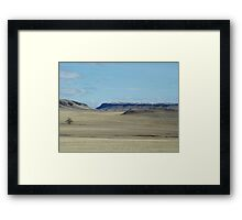 Prairie Buttes with Lone Tree Framed Print
