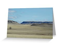 Prairie Buttes with Lone Tree Greeting Card