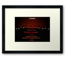 Silence of the Audience Framed Print