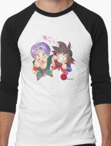 Trunks and Goten - watercolor Men's Baseball ¾ T-Shirt