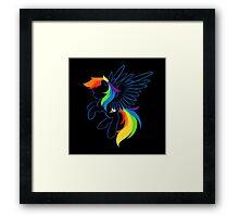 Rainbow Dash Abstract 2 Framed Print