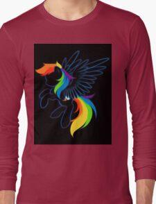 Rainbow Dash Abstract 2 Long Sleeve T-Shirt