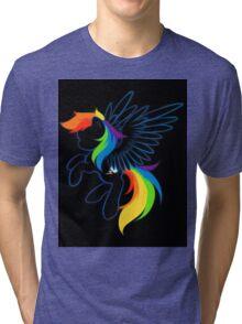 Rainbow Dash Abstract 2 Tri-blend T-Shirt