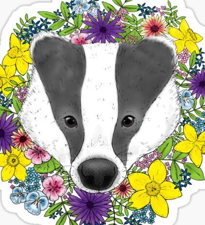 Spring Badger Sticker
