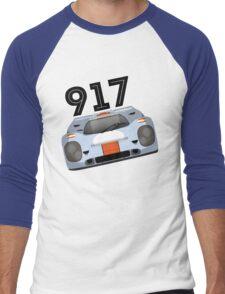 Porsche 917 Gulf Racing Men's Baseball ¾ T-Shirt