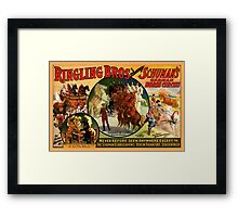 Vintage art circus poster reproduction Framed Print