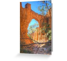 Through The Arch At Golden Gully Greeting Card