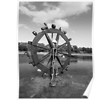 Fun Waterwheel - Monochrome Poster