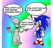 Roger Meets Sonic Photographic Print