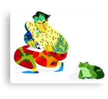 Rohan and frog Canvas Print