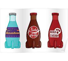 Nuka Cola Cherry and Quantum Set Poster