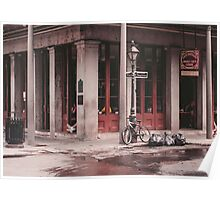 New Orleans Street Photo - Chartres Street Cajun Cafe Poster