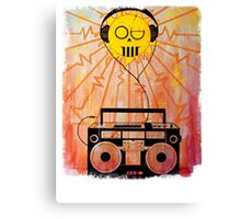 Sol Music - White Letters Canvas Print