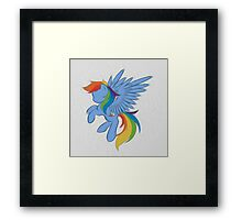 Rainbow Dash Abstract 2 (White + Oil Paint) Framed Print