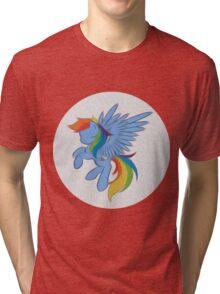 Rainbow Dash Abstract 2 (White + Oil Paint) Tri-blend T-Shirt