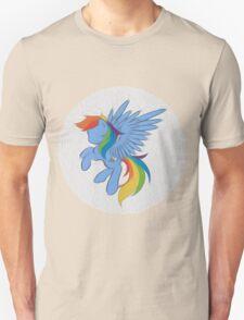 Rainbow Dash Abstract 2 (White + Oil Paint) T-Shirt