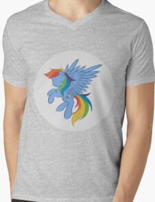 Rainbow Dash Abstract 2 (White + Oil Paint) Mens V-Neck T-Shirt