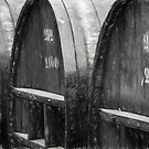 The Wine Barrels - Charcoal Impression by photograham