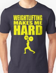 Funny Sport - Weight Lifting Makes Me Hard - yellow Unisex T-Shirt