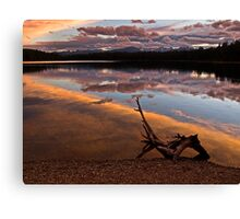 Holland Lake Sunset - Montana Canvas Print