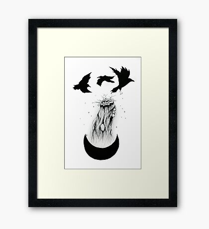 'The Priestess' Ink Drawing Framed Print