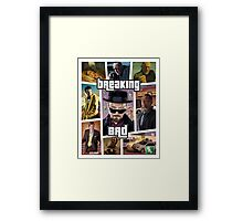Breaking Bad / Grand Theft Auto Crossover (Clear Frame) Framed Print