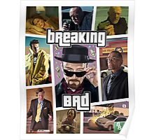 Breaking Bad / Grand Theft Auto Crossover (Clear Frame) Poster