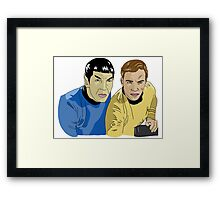 The Captain and His Science Officer Framed Print